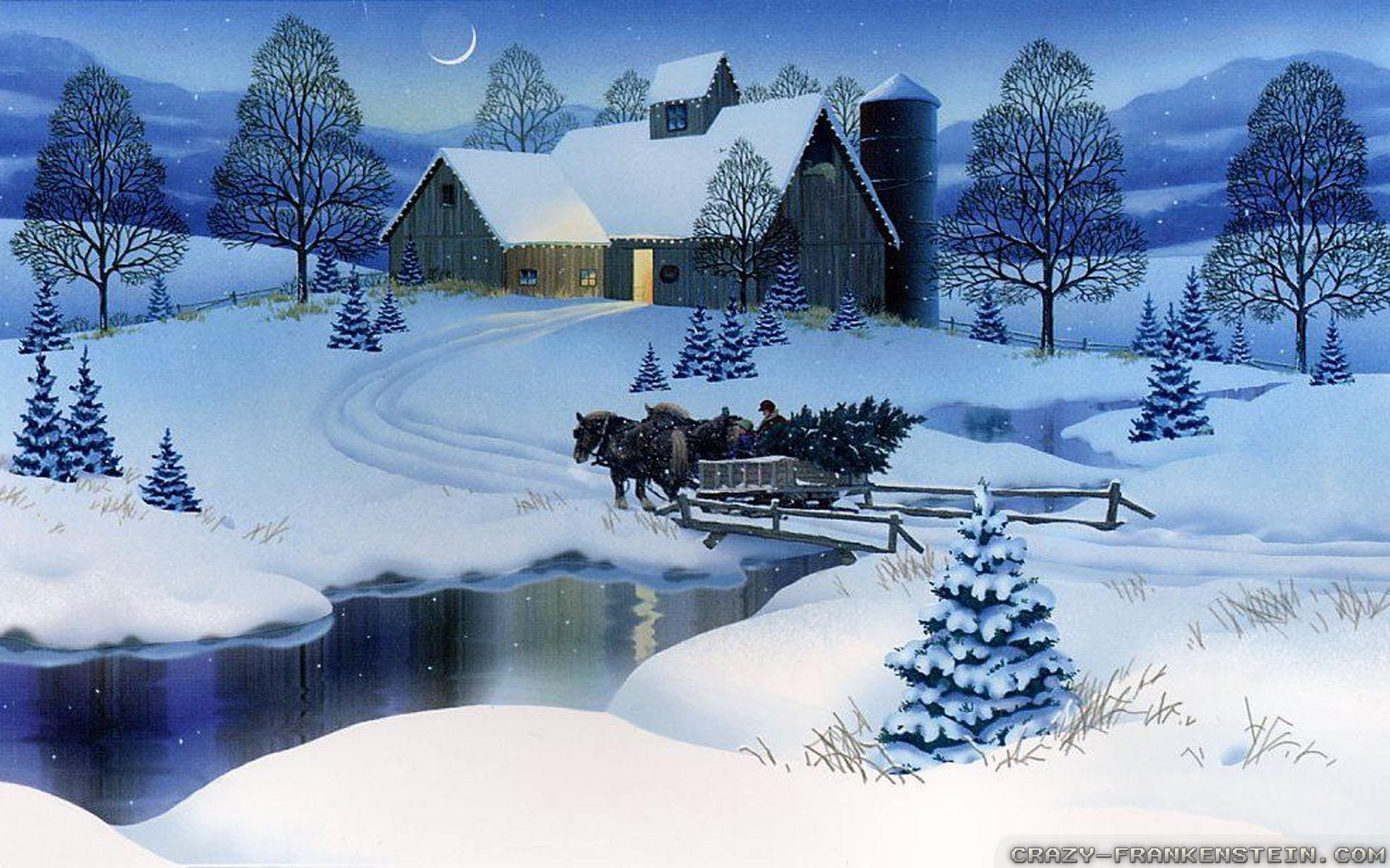 Super Collection: Christmas Winter Scenes Desktop Wallpaper, HDQ