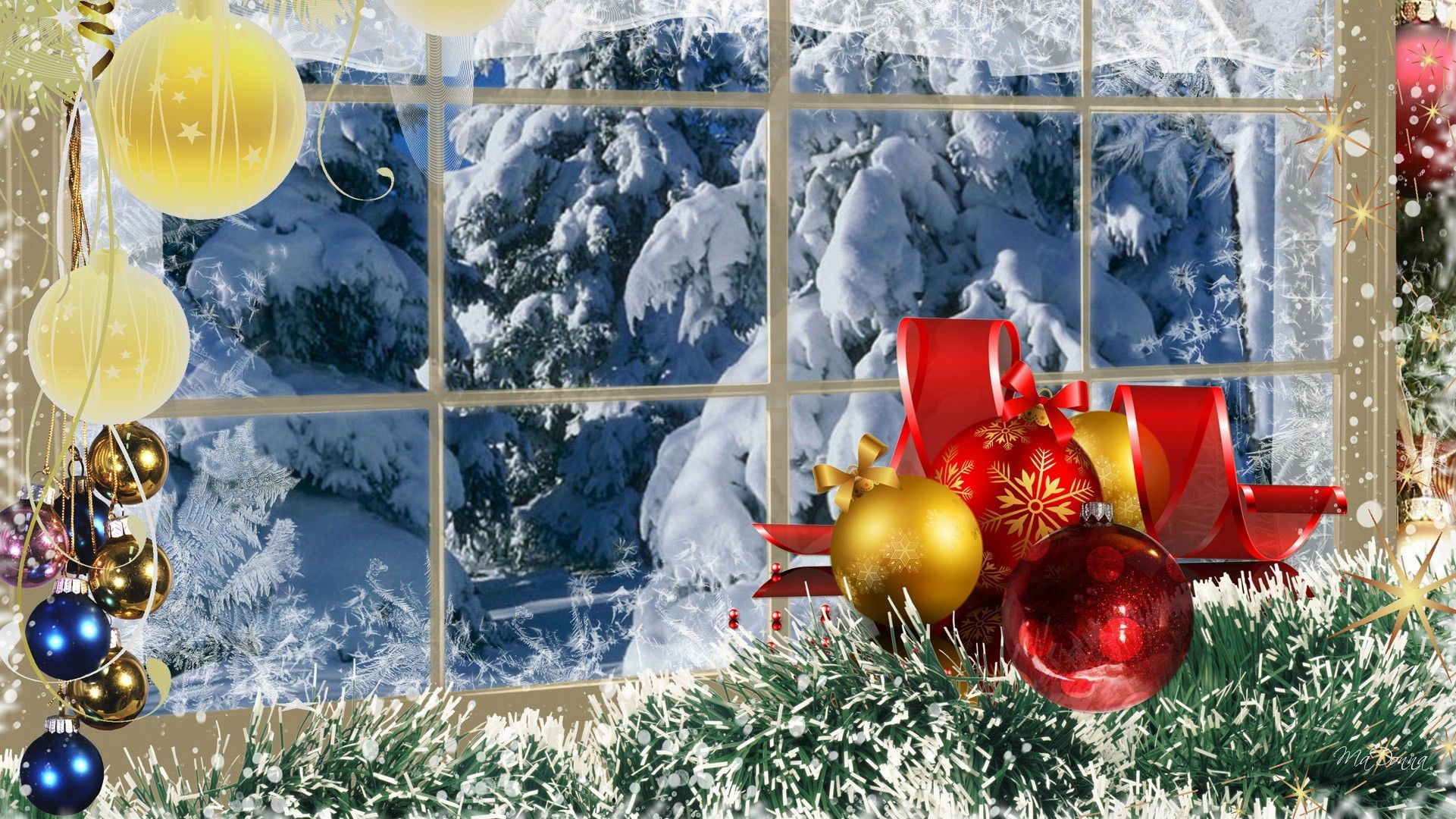 Christmas Winter Scenes Wallpapers - Wallpaper Cave