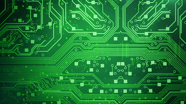keywords green circuit board background and tags