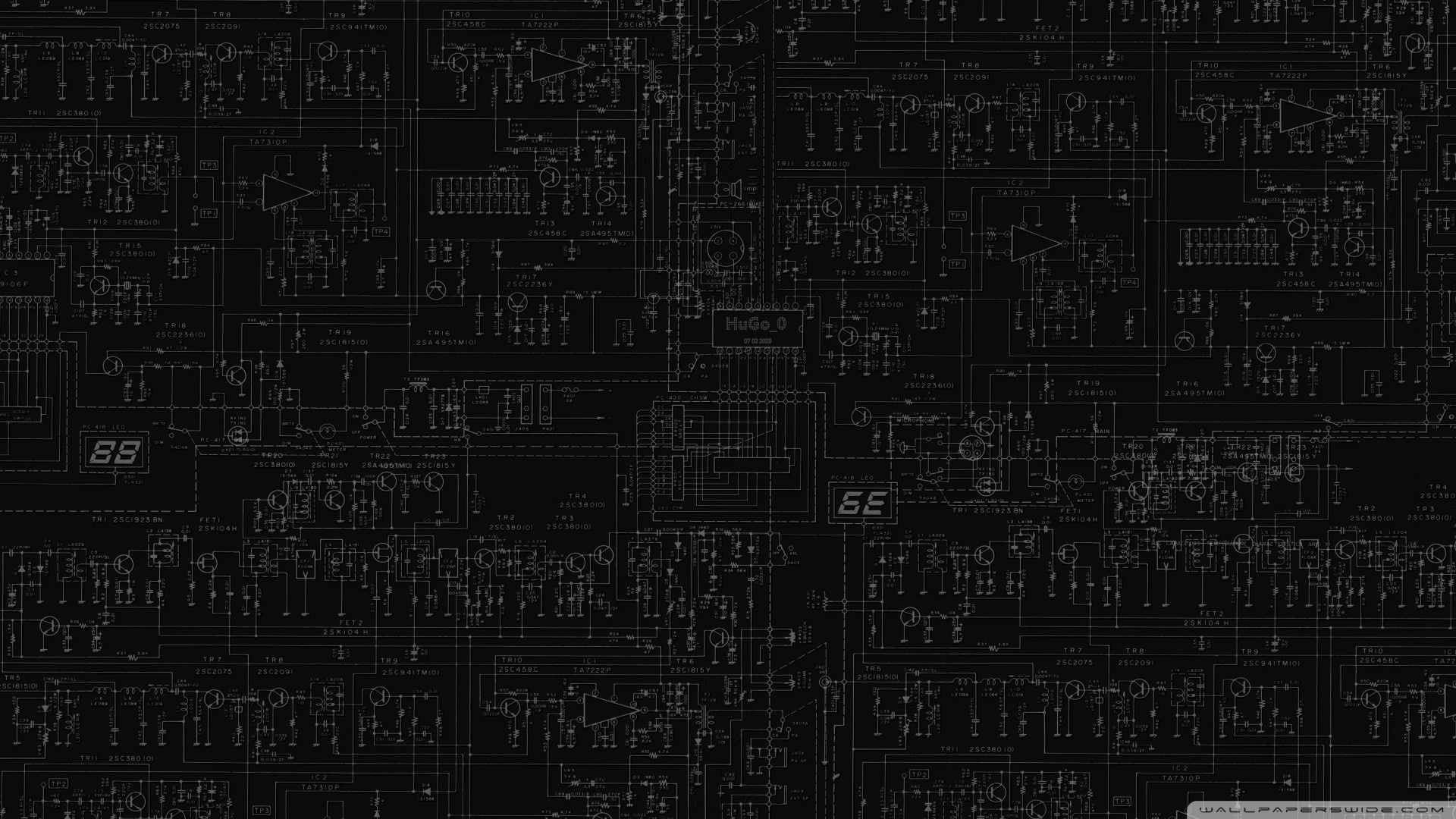 Circuits Board HD desktop wallpaper : Widescreen : High Definition