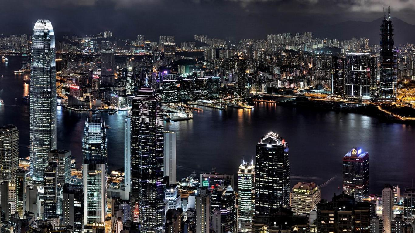 city night hd wallpaper - sf wallpaper