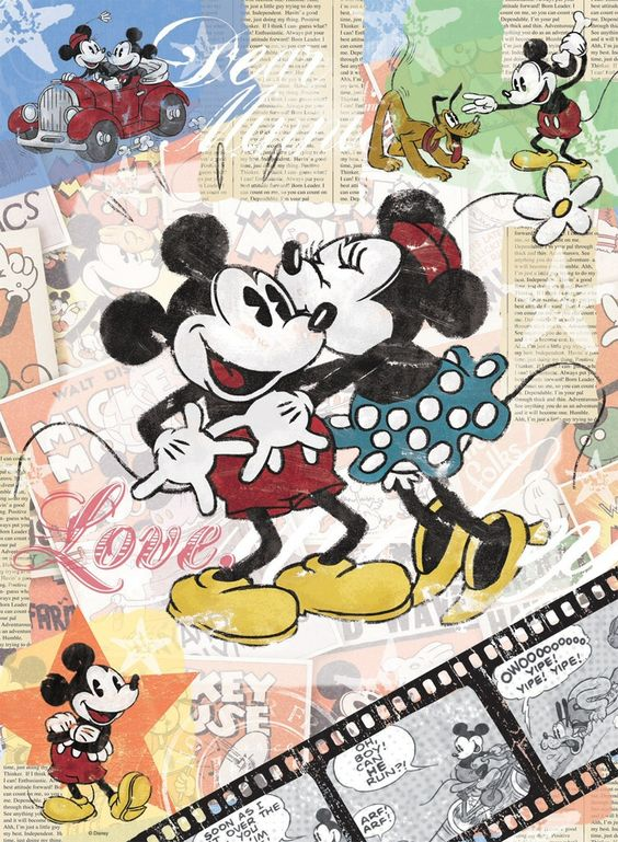 vintage mickey mouse cartoon   Mickey Mouse Vintage Poster Art