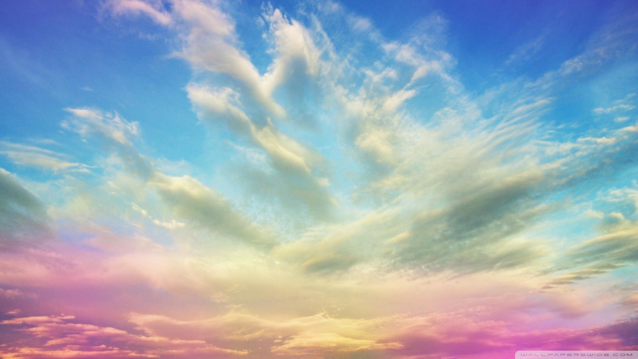 Pink Clouds HD desktop wallpaper : High Definition : Fullscreen