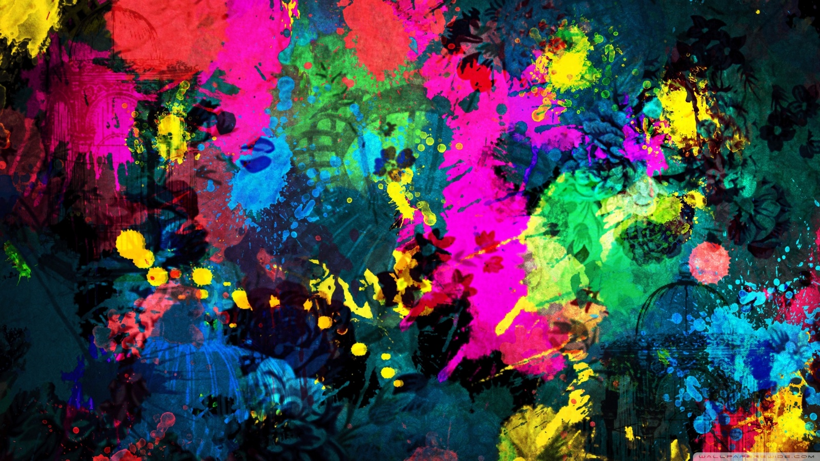 Colorful Paint Splatter HD desktop wallpaper : High Definition