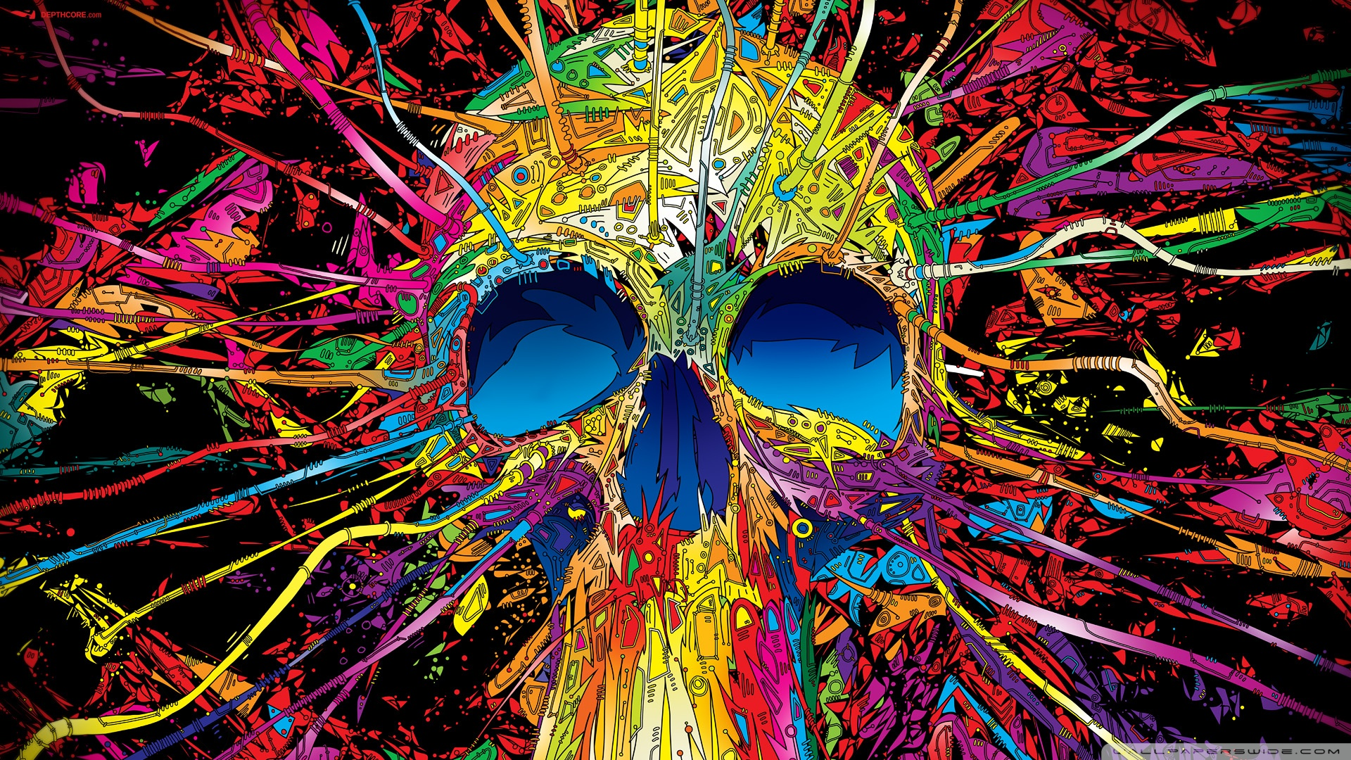 Colorful Skull HD desktop wallpaper : High Definition : Mobile