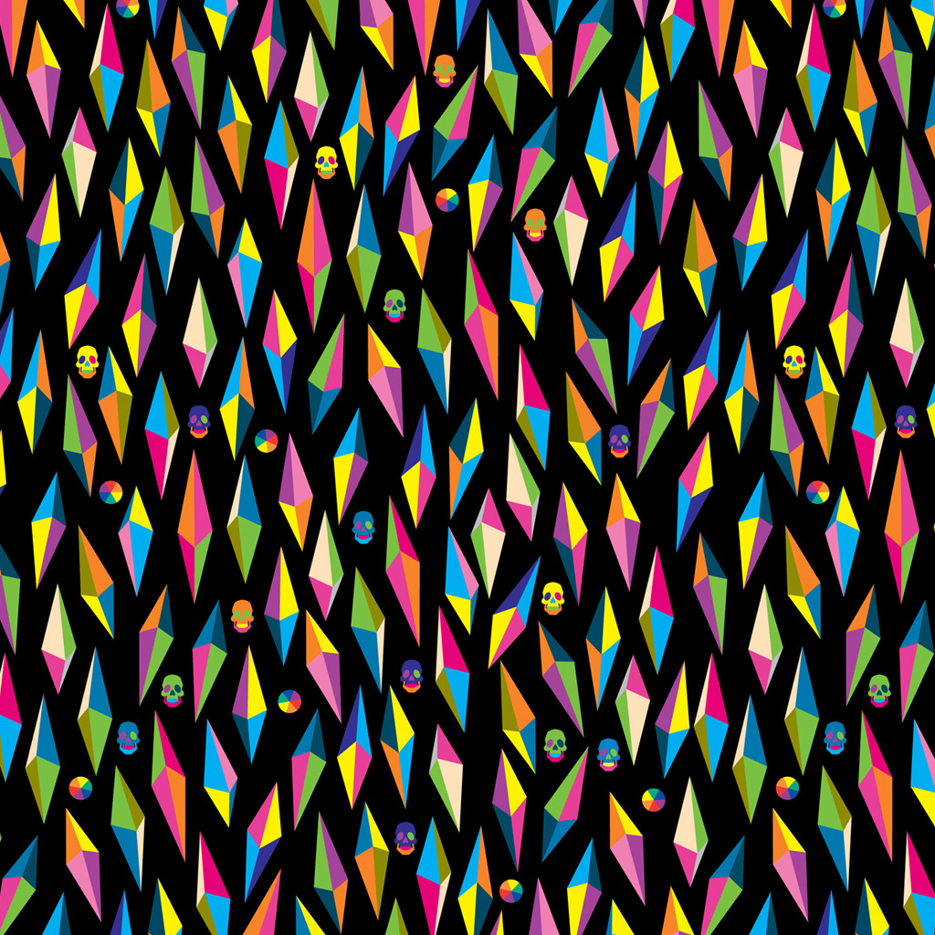 Psychedelic Color Colors Pattern Wallpaper