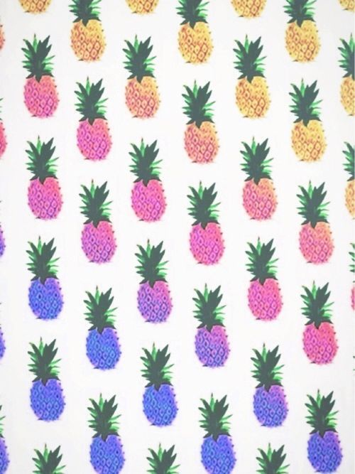 pineapples rainbow colorful wallpaper background iPhone tumblr