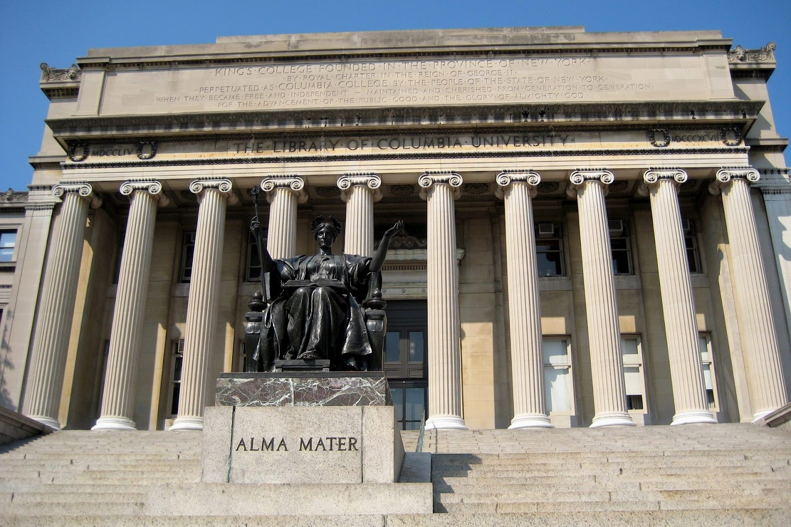 Wallpapers and pictures: The library of Columbia University wallpaper