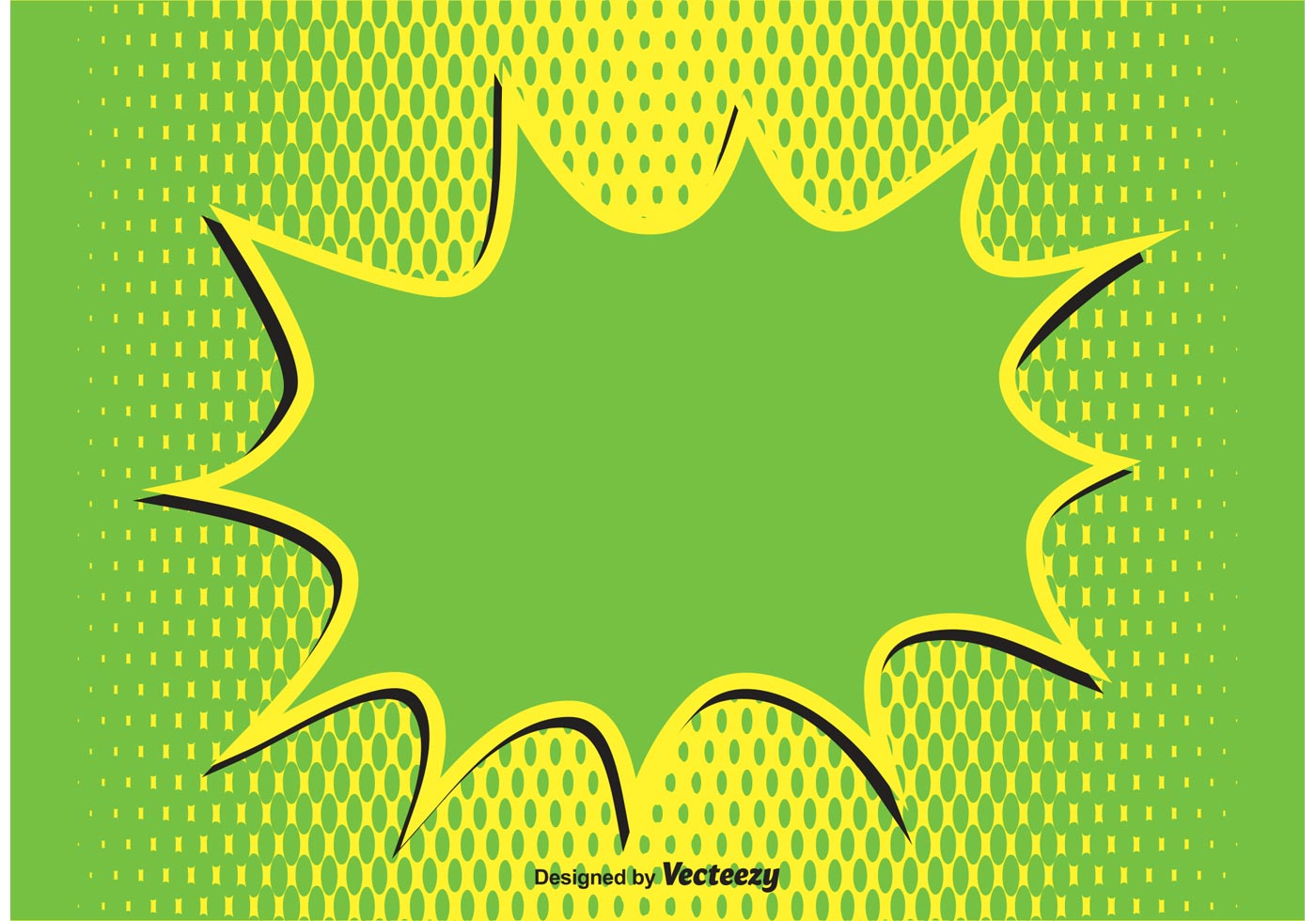 Comic Style Splash Background Illustration - Download Free Vector