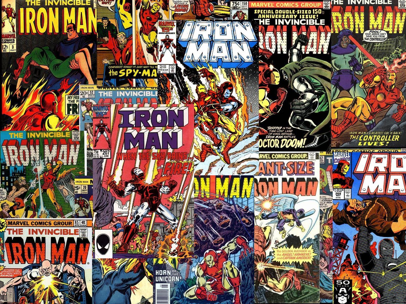 Download Vintage Comics Iron Man Wallpaper 1600x1200 | Full HD