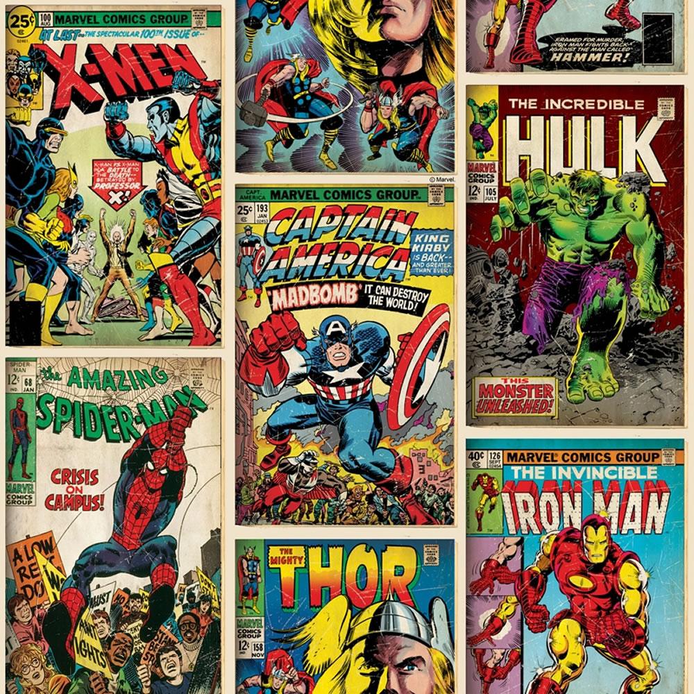 Marvel Superheroes Wallpaper Comic Cover at wilko com