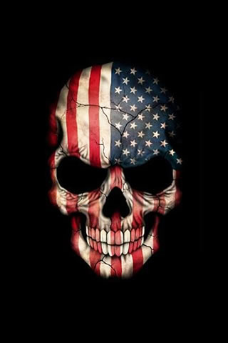 Skull vs American flag wallpaper for Android,Android Wallpapers