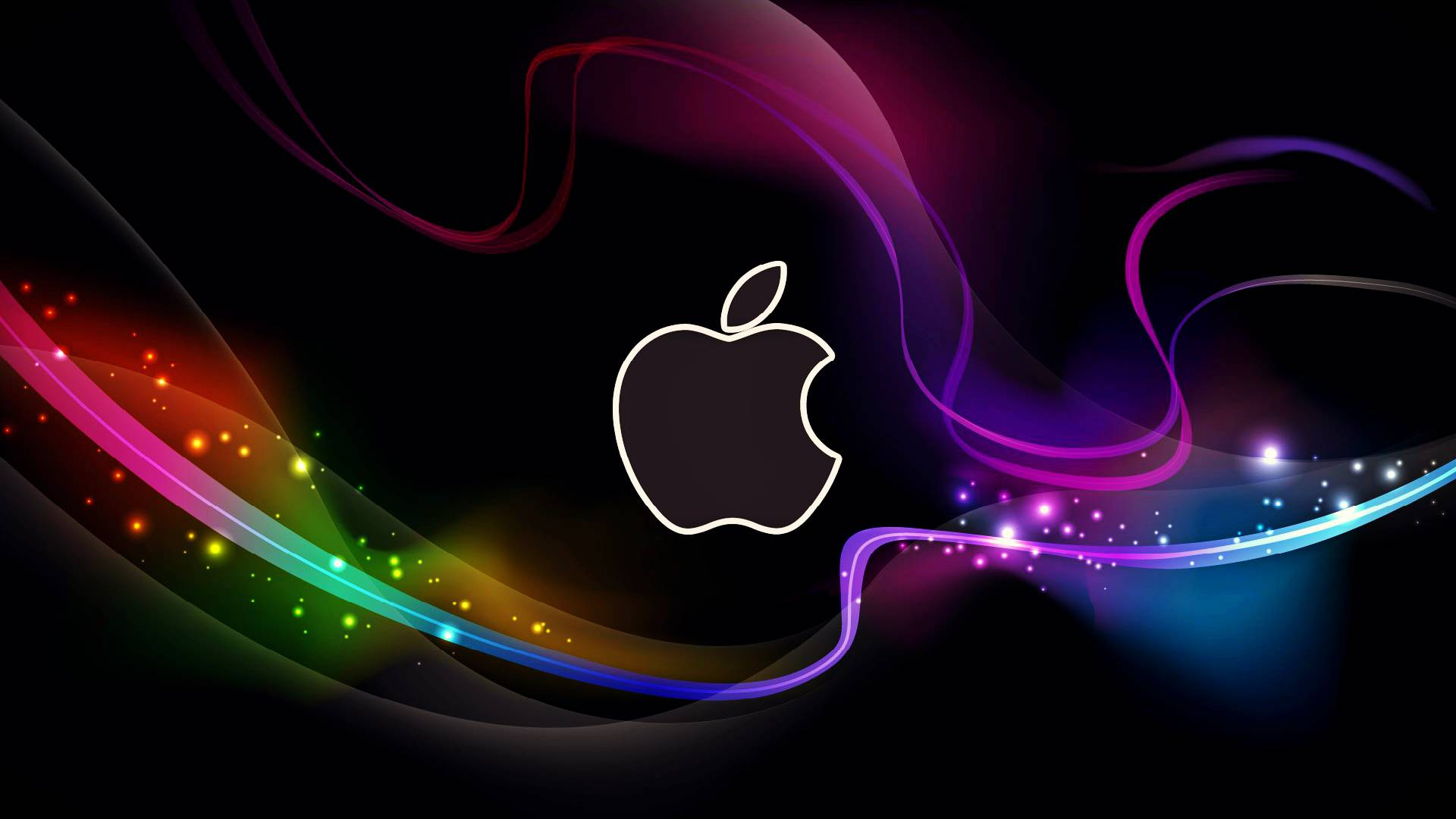 HD Cool Apple Logo with Abstract Background Wallpapers - HD