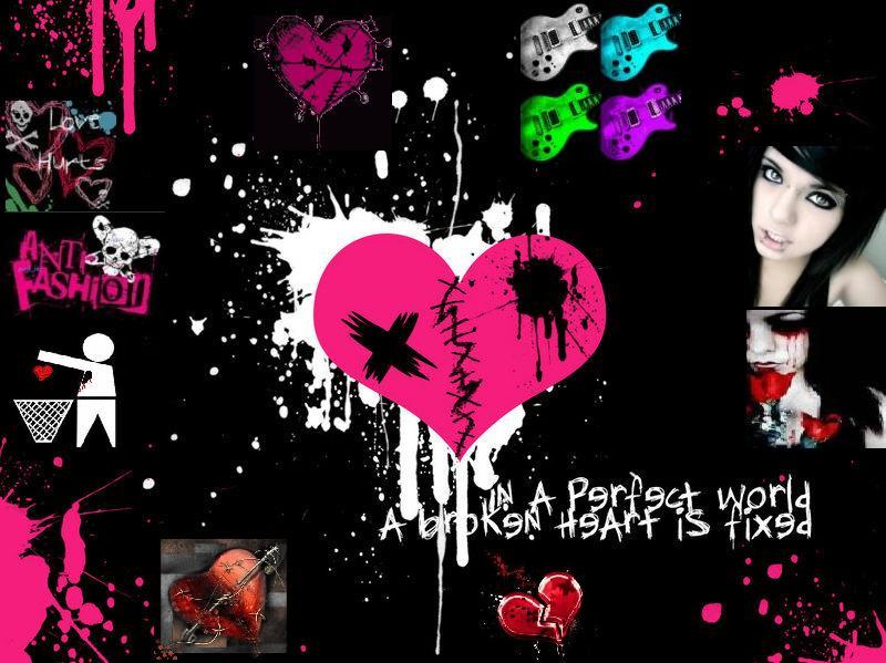 Cool Emo Backgrounds - WallpaperSafari