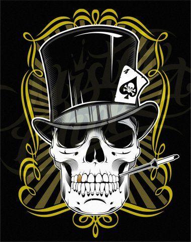 Cool Skull | Cool Skull Tattoos Especially Skull Gambler Tattoo