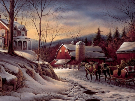 Country Christmas Backgrounds Page 1