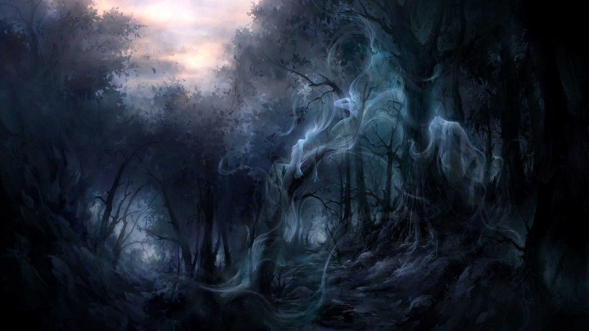 Creepy Forest Background