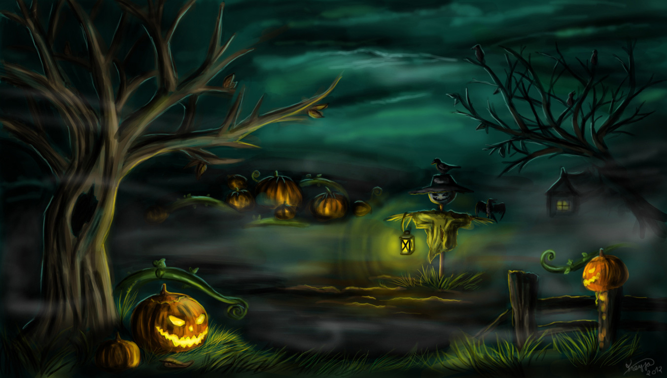 Scary Halloween Backgrounds Wallpapers - WallpaperSafari