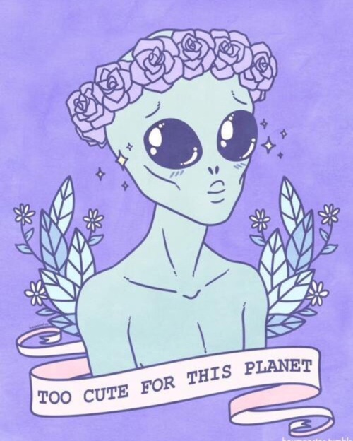 cute alien background | Tumblr