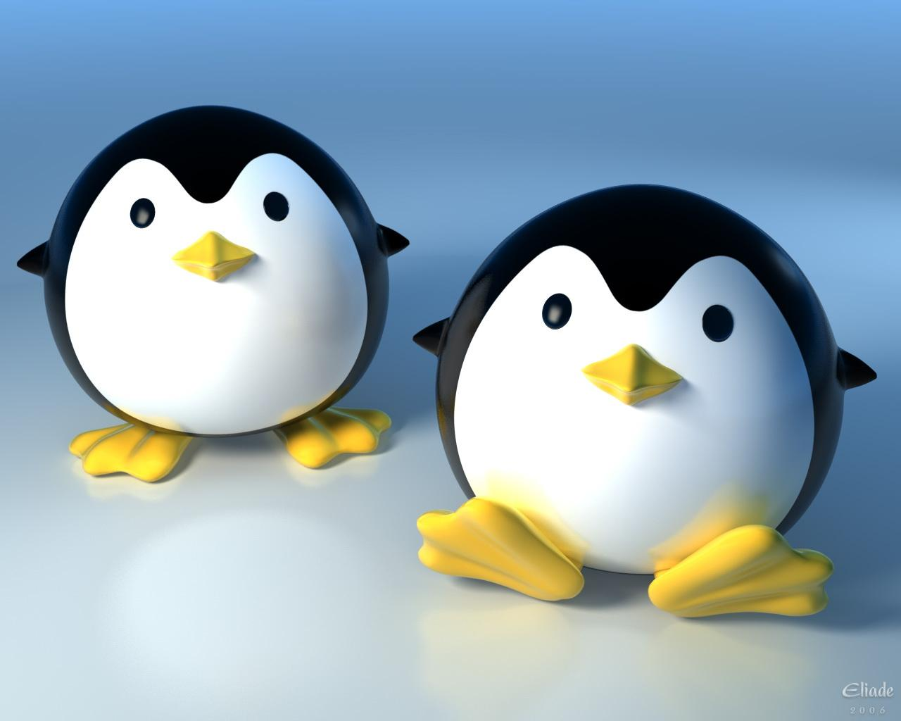 Cute Penguins Cartoon 3D Animated Wallpaper HD #3186 Wallpaper