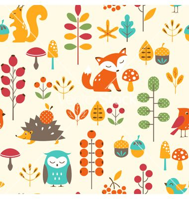 Cute autumn pattern vector | Graphic design | Pinterest | Patterns