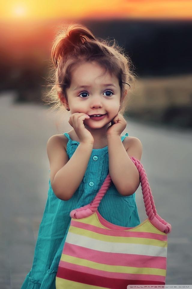 Cute Stylish Child Girl HD desktop wallpaper : Widescreen : High