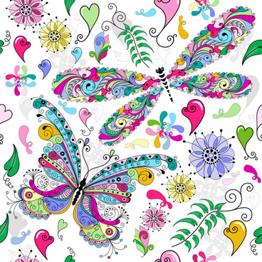 Cute butterfly wallpaper pattern free vector download (26,700 Free