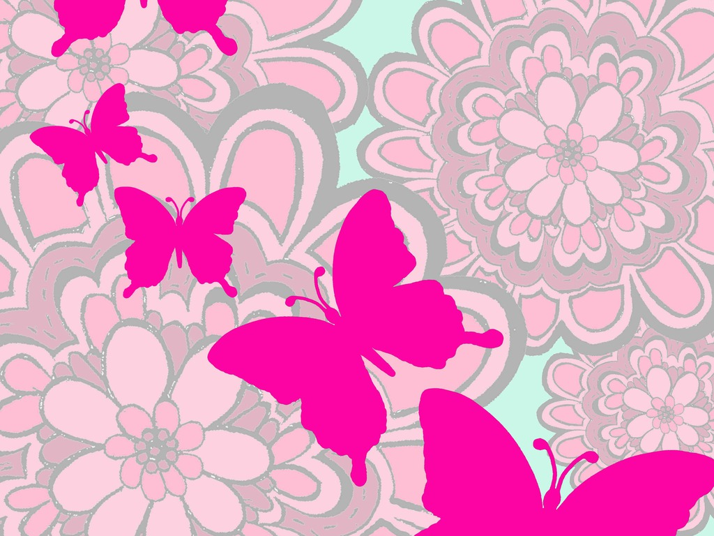 Cute Butterfly Backgrounds Group (58+)