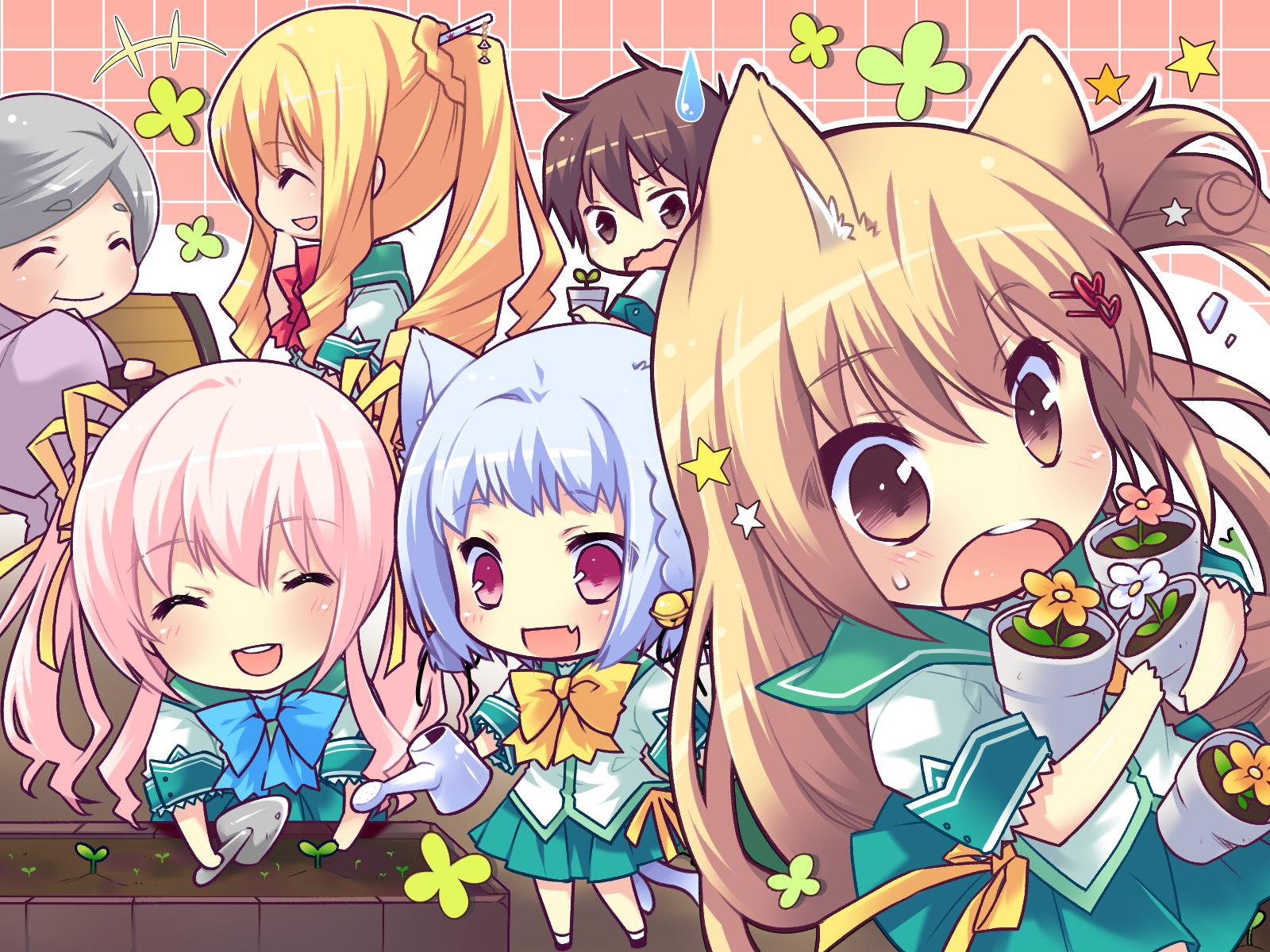 Anime Chibi Wallpaper - WallpaperSafari