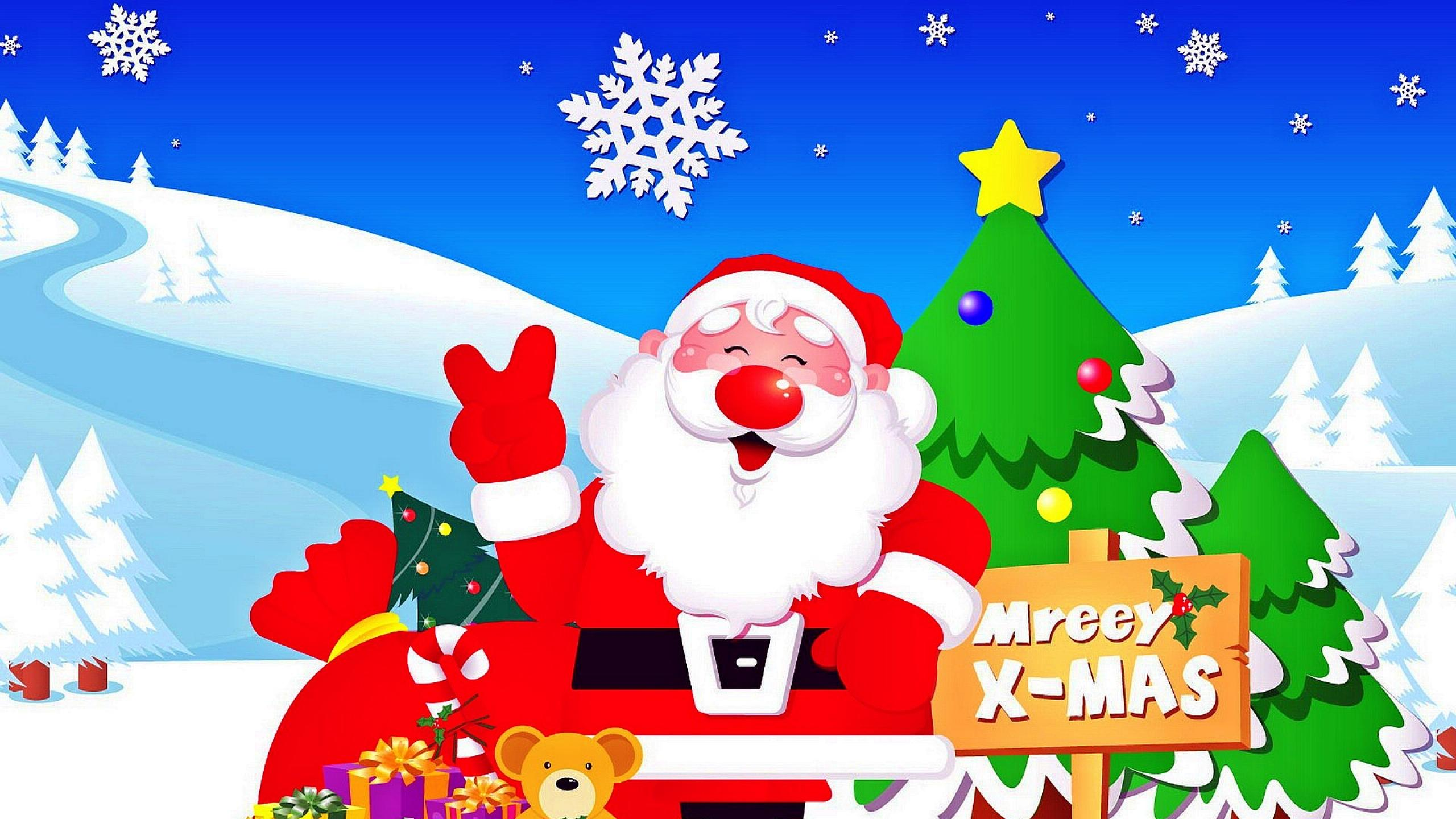 Cute Santa Wallpapers Group (79+)