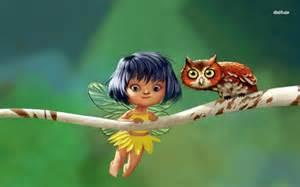 Cute Baby Fairies Wallpaper - Wallpapers Kid