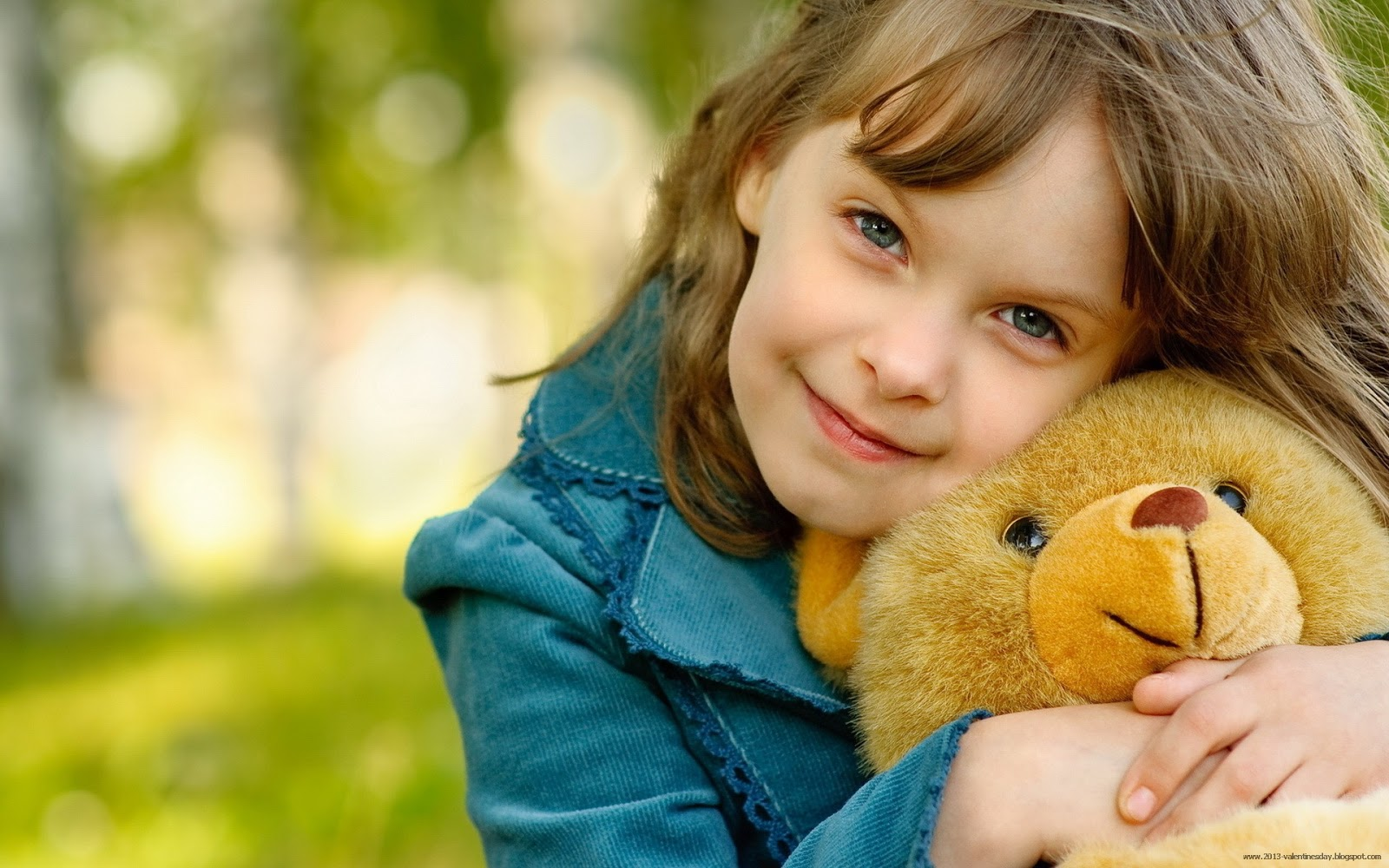 Download Cute Girl With Teddy Bear Wallpaper | Full HD Wallpapers