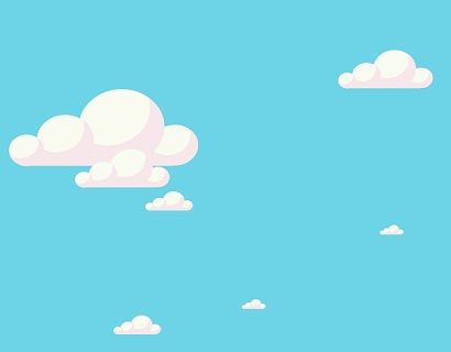 12 Cute Moving Cloud animation with blue background using css