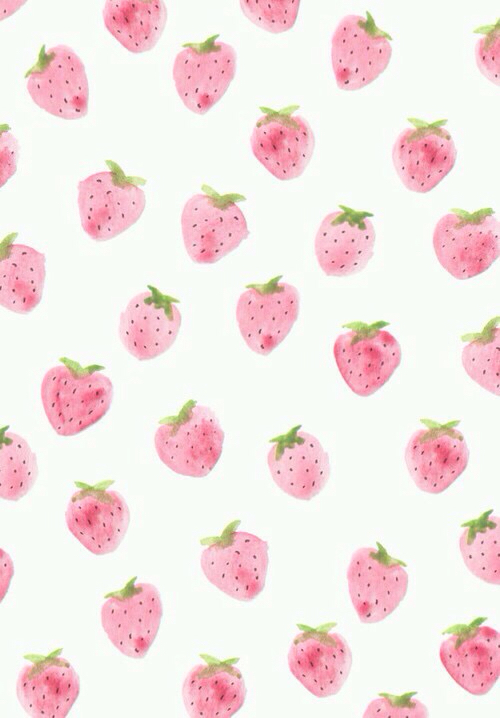 cute, pastel, strawberry, tumblr, wallpaper, WALLAPERS - image