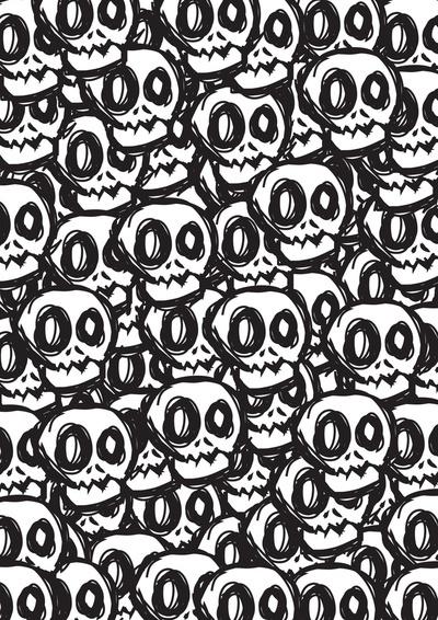 Cute Skulls Wallpaper