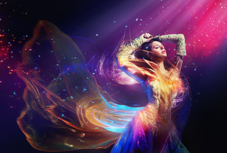Digital Colorful Dancing Girl High Qaulity Wallpapers | HD Wallpapers
