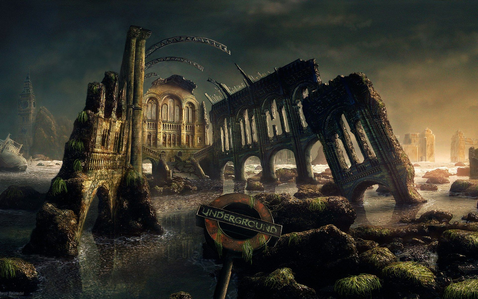 Download Gothic Dark Art Fantasy Scenery Wallpaper 1920x1200