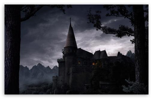 Dark Castle HD desktop wallpaper : Widescreen : High Definition