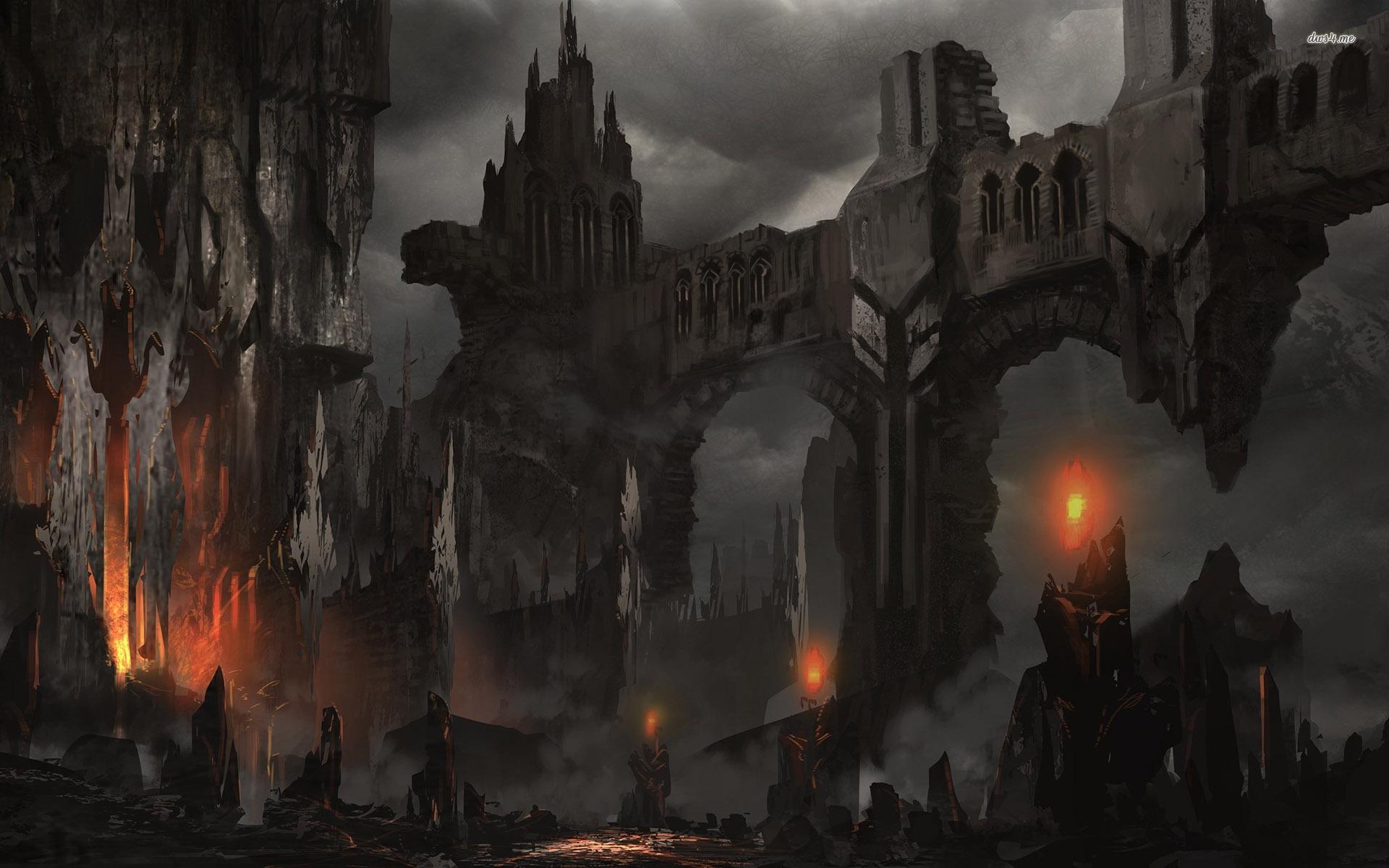 Fantasy Dark Castle Wallpaper Hd Background Wallpaper 16 HD