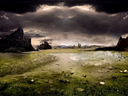 Dark Castle Wallpaper Landscape Nature Wallpapers in jpg format