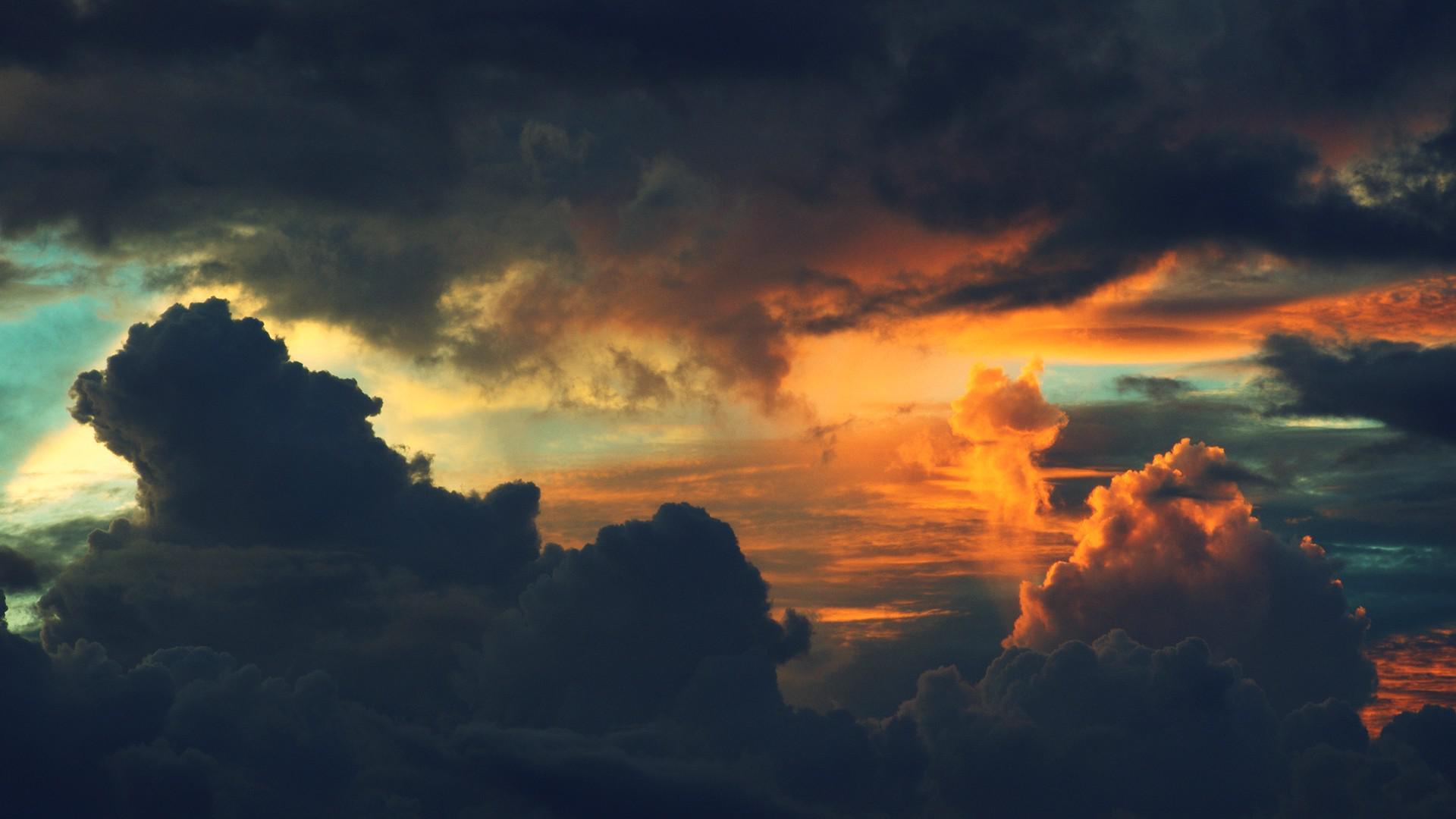 Sunset Dark Clouds wallpaper | 1920x1080 | #32105