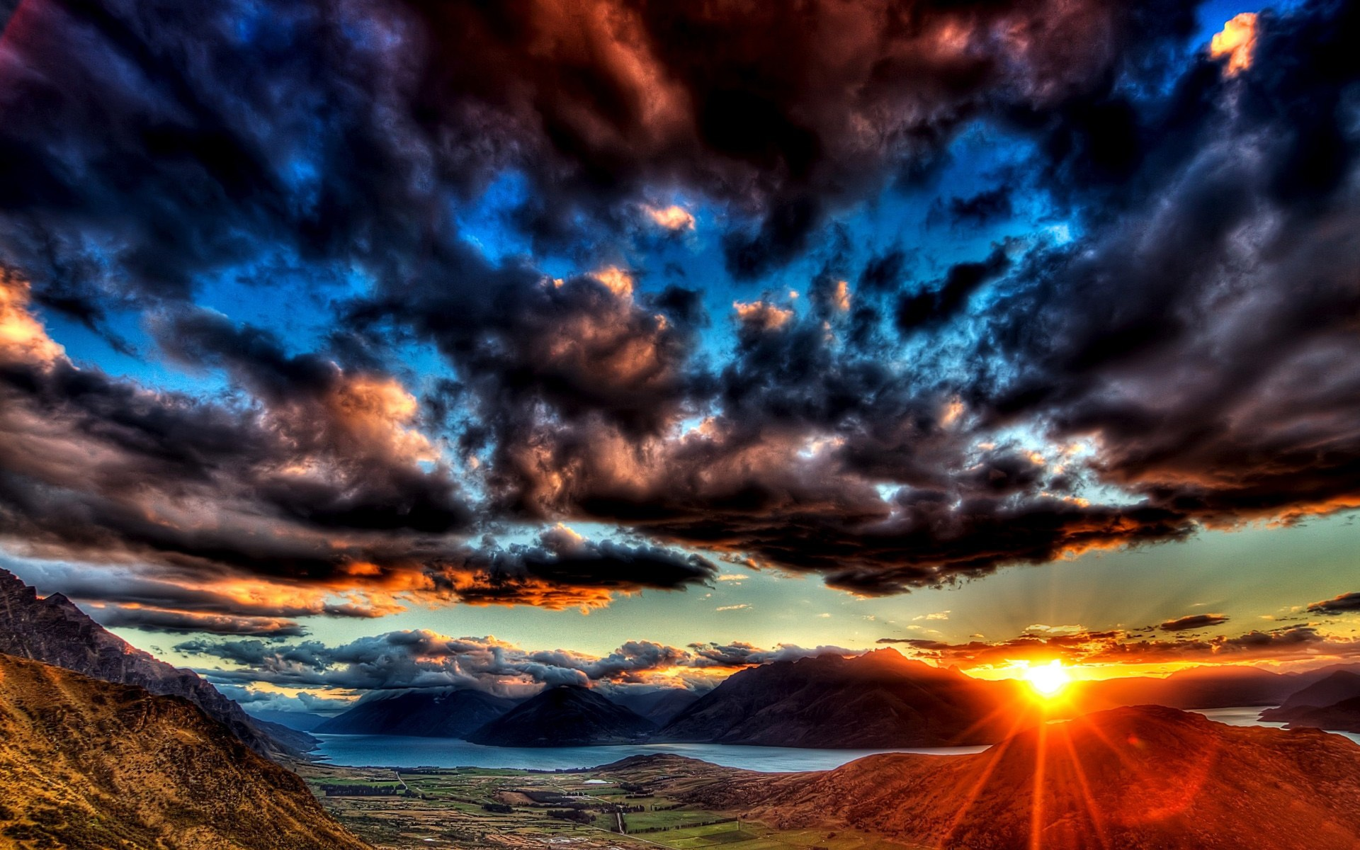 Sunset Dark Clouds Wallpapers | Pictures