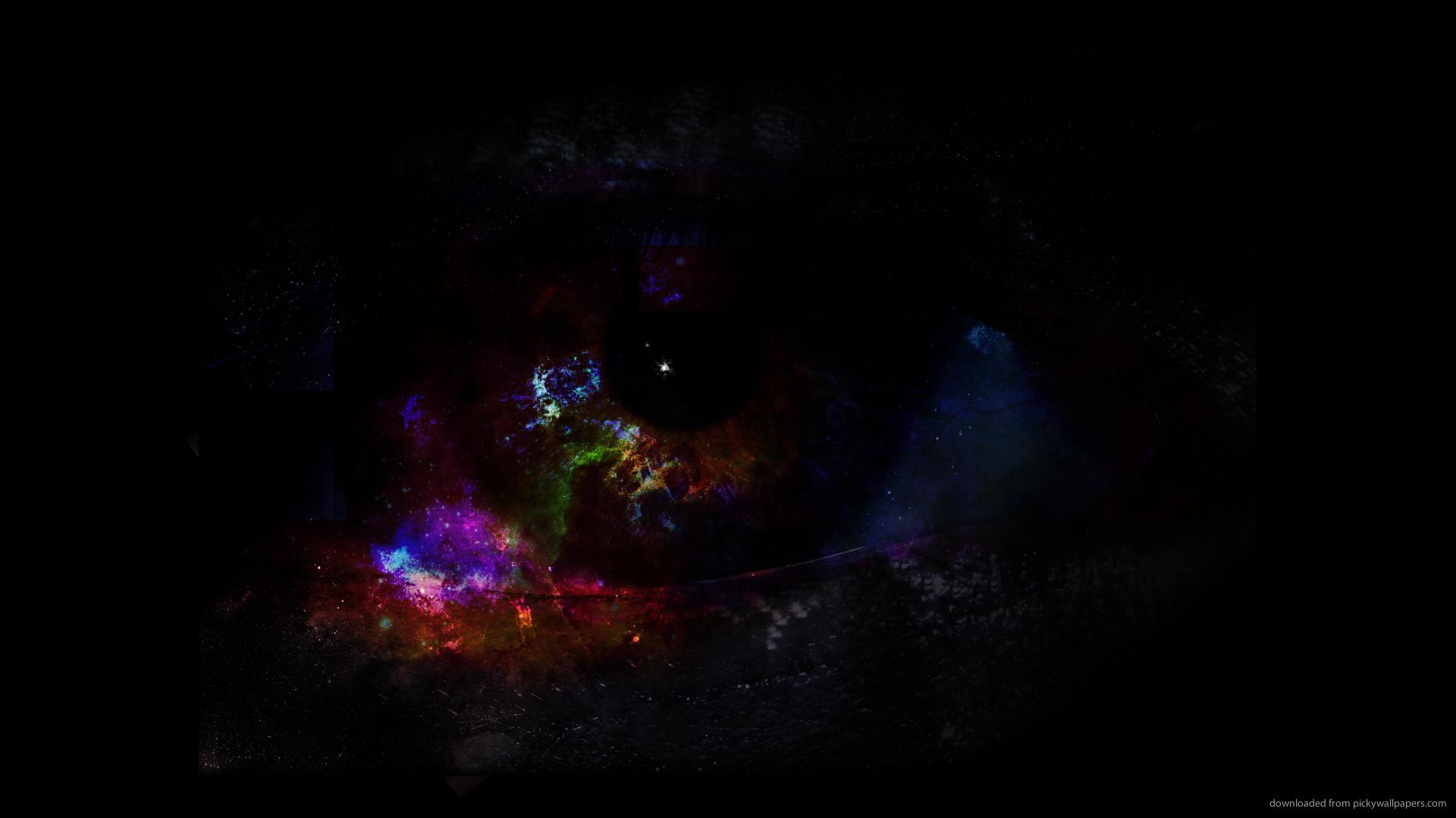 HD Abstract Dark Eye Wallpaper