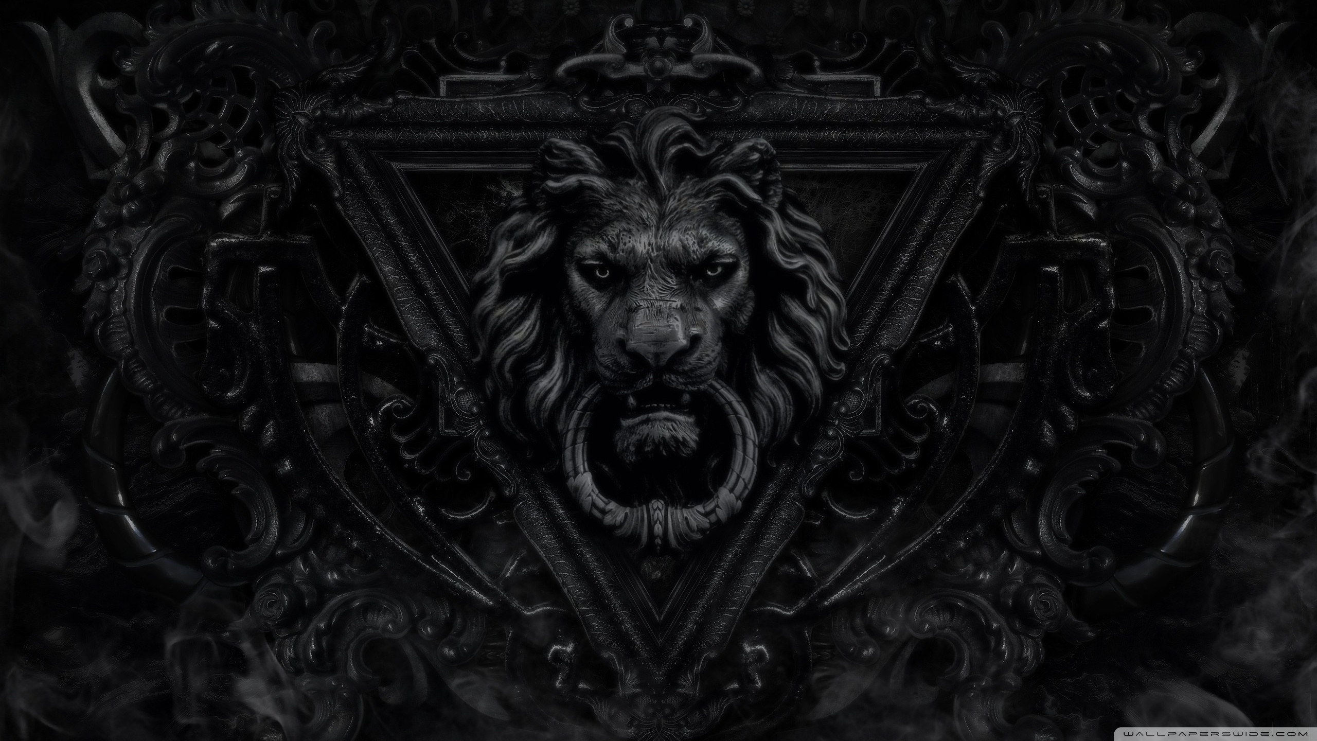 Dark Gothic Lion HD desktop wallpaper : High Definition