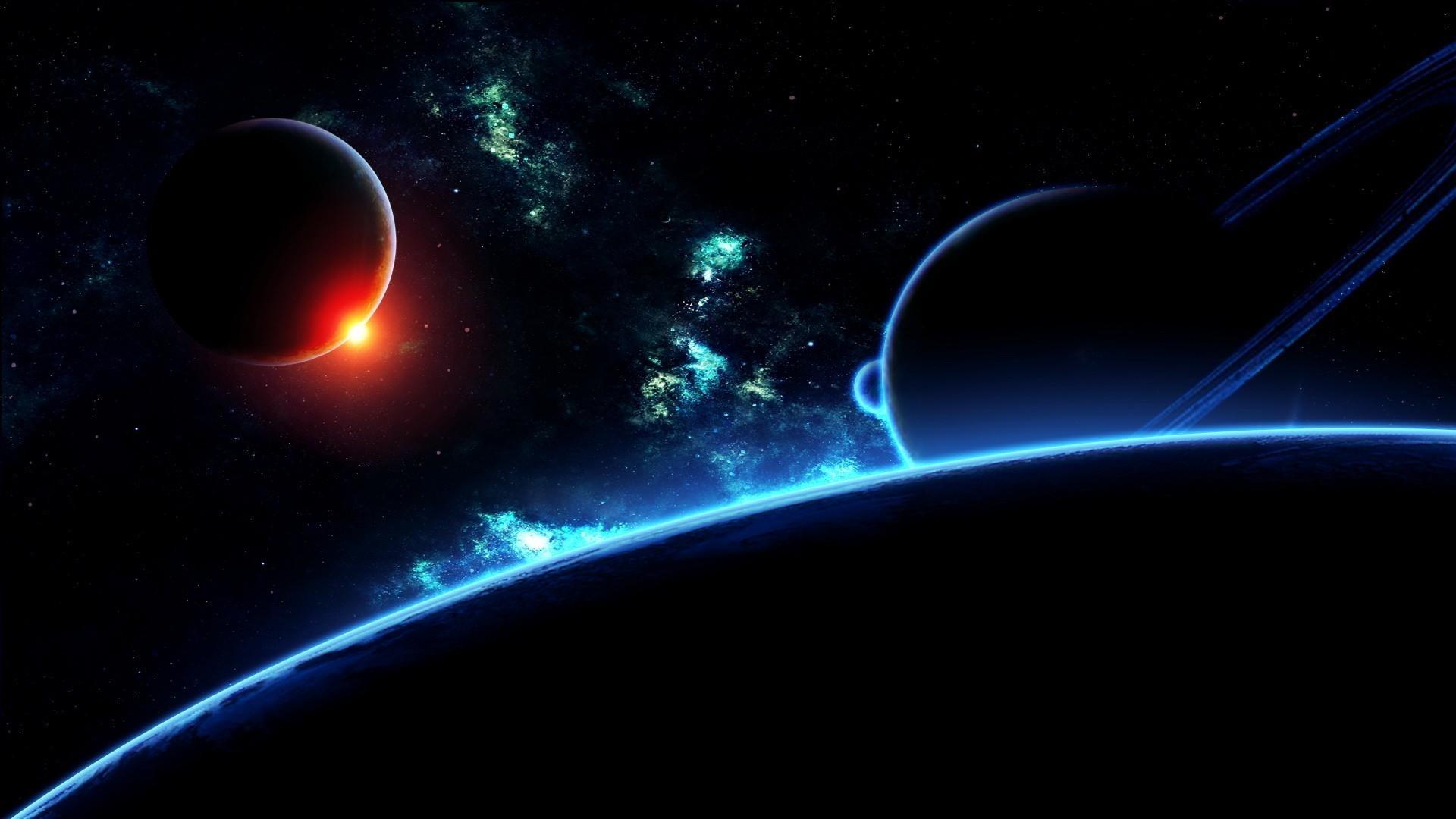 Wallpaper Dark Matter Behind The Planet Free Desktop Background