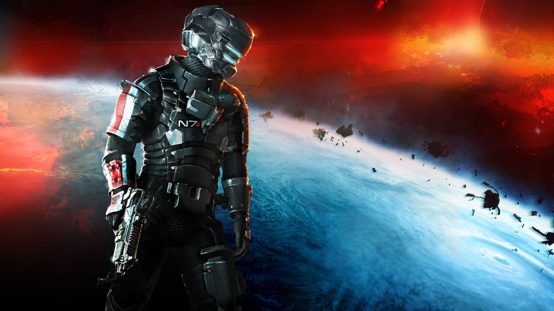 Dead Space 3 Mass Effect N7 Armor Wallpapers | HD Wallpapers