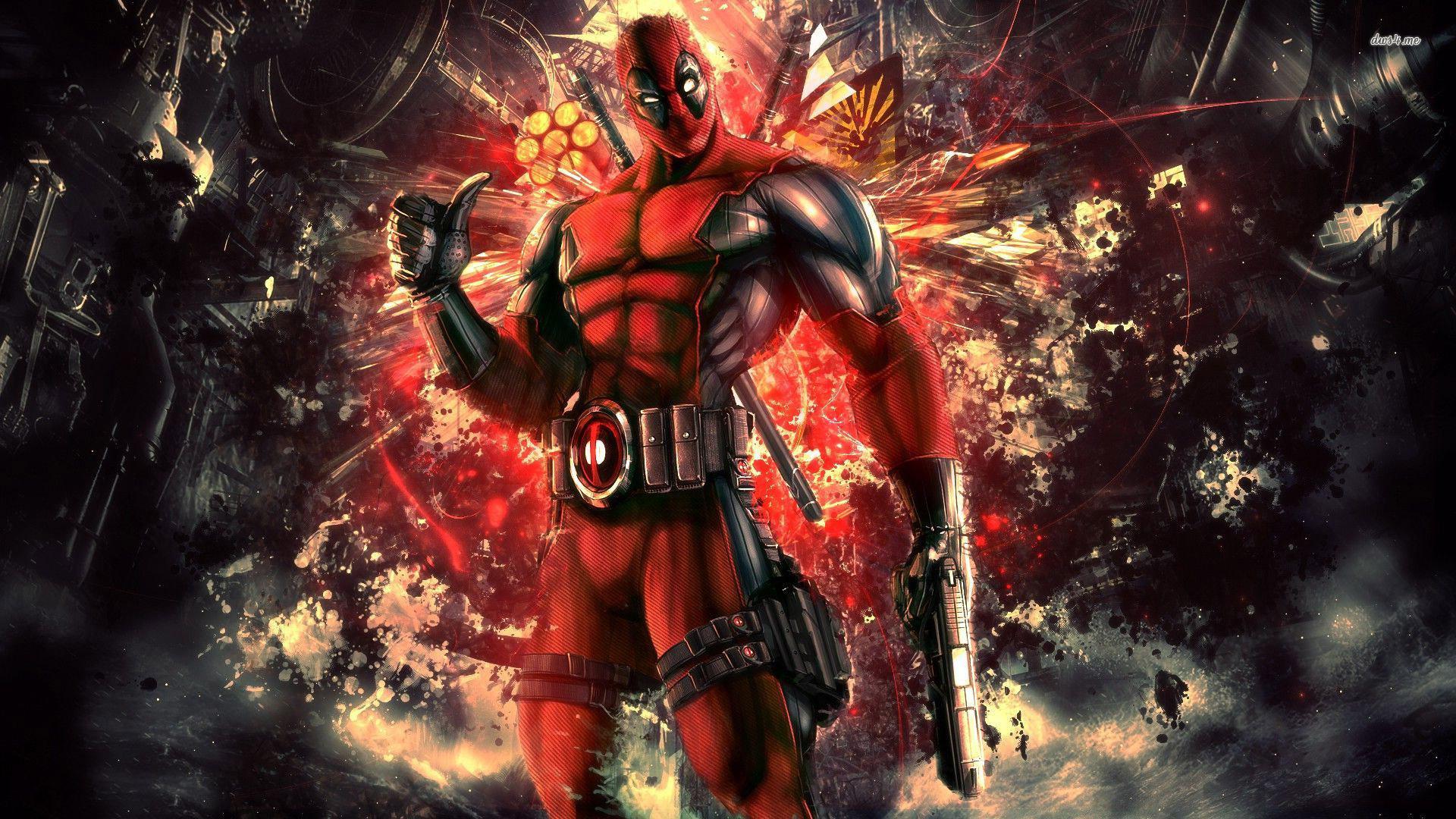 Deadpool Background Sf Wallpaper