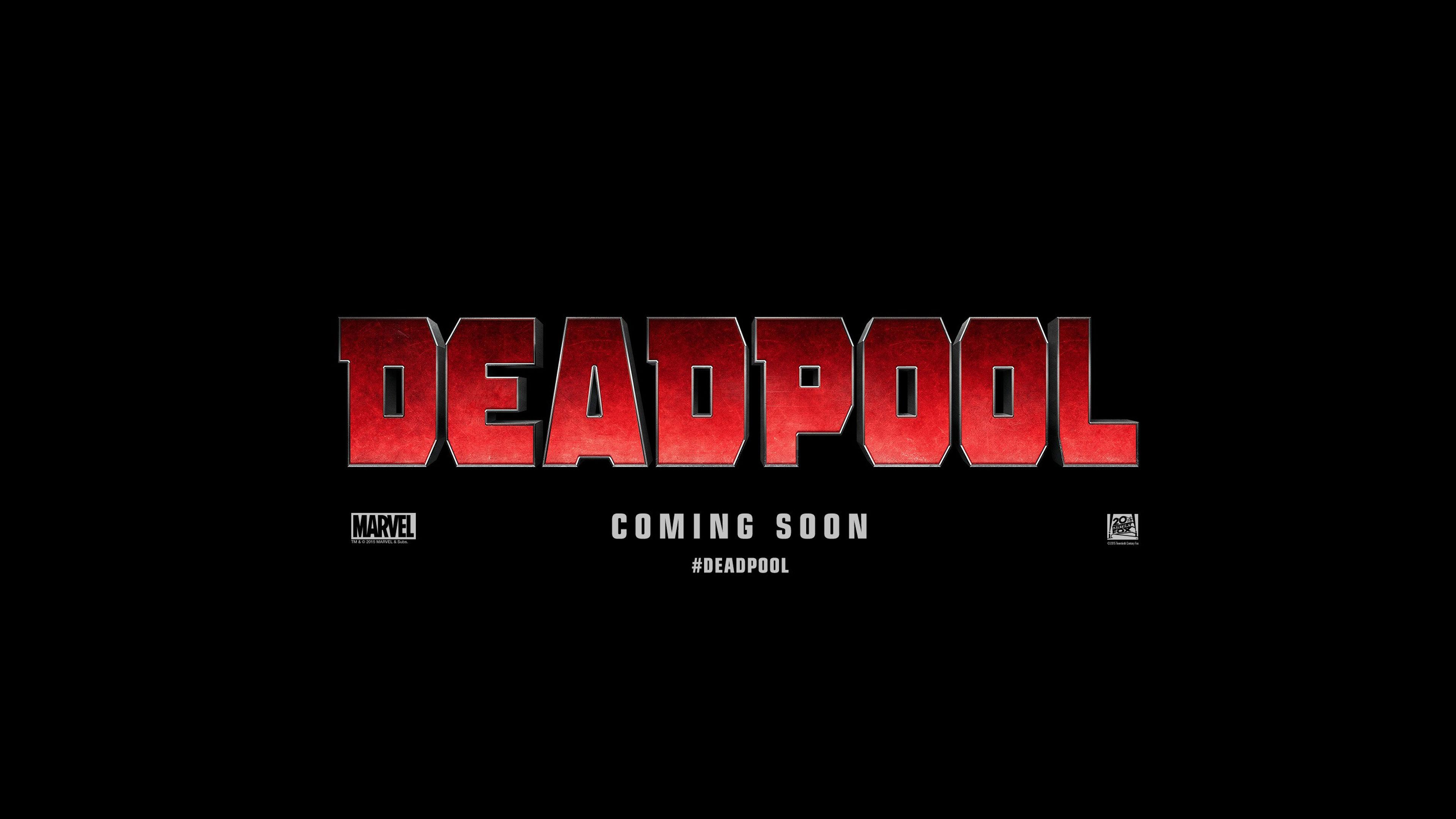 Deadpool 4K Logo - 3840x2160 - 4K 16/9 (Ultra HD, UHD) - Wallpaper