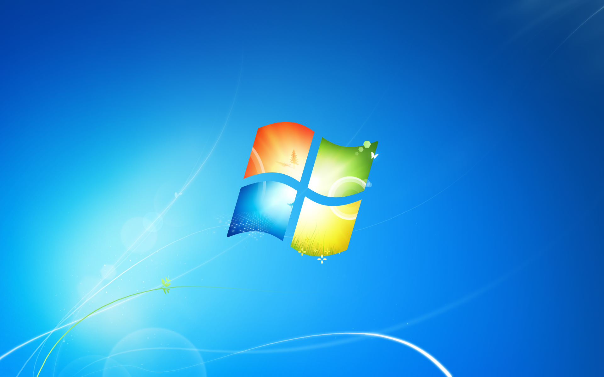 Windows 7 has a new default wallpaper and logo | ZDNet