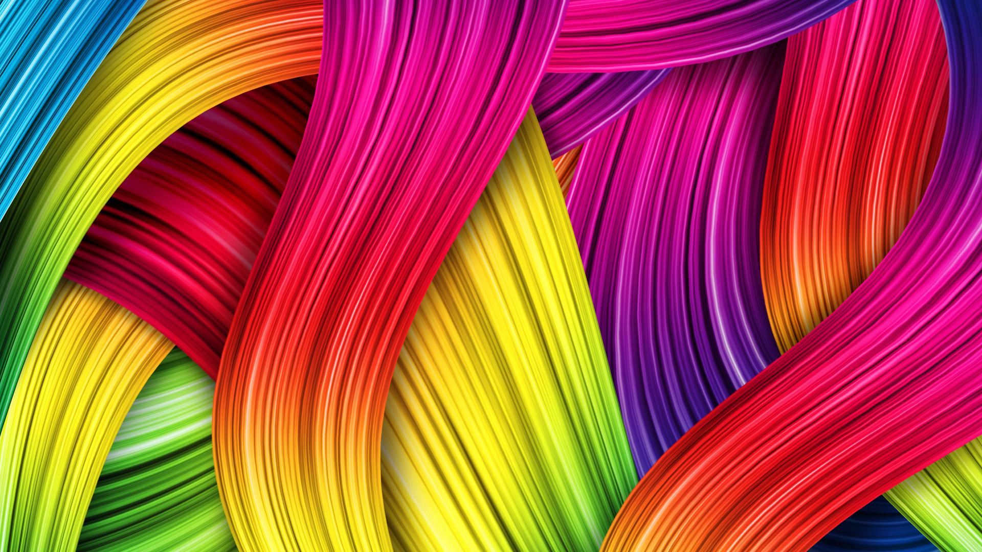 Animated Colorful Thread Wallpaper With Resolutions 1920×1080